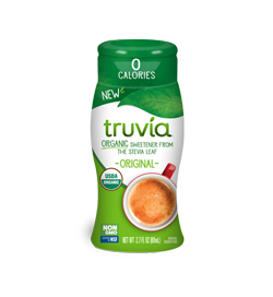 3D render of Truvia organic liquid sweetener in original flavor