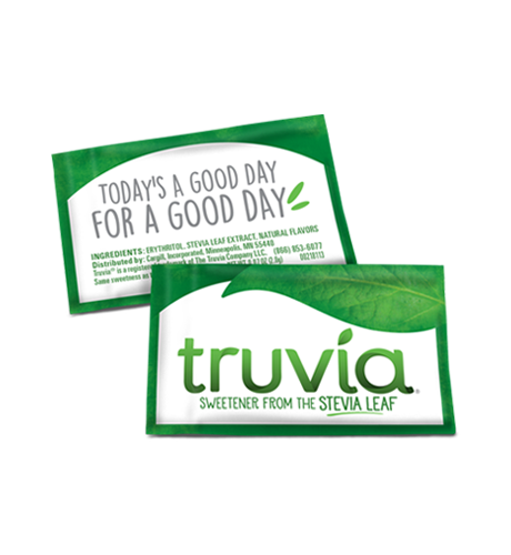 3 D Truvia Retail Packet front Back