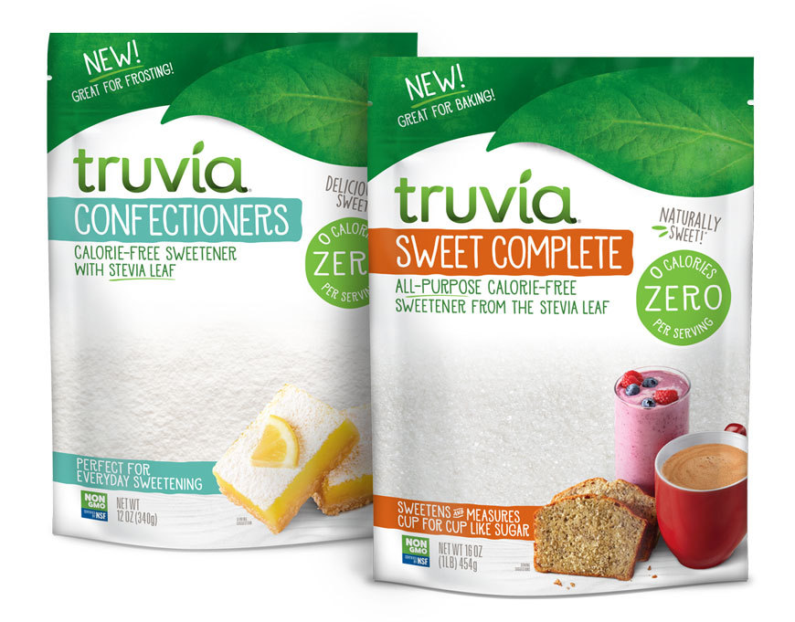 Truvia Sweet Complete and Confectioner Bags side by side
