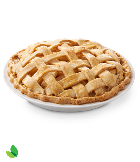Fresh baked apple pie with woven crust