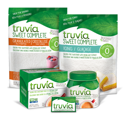 Complete family of Truvia sweetener products