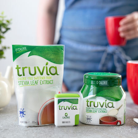 Image of Truvia products displayed on table