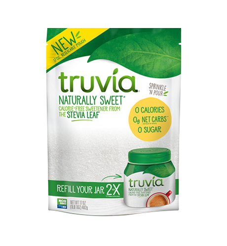 3D render of Truvia calorie-free sweetener refill bag