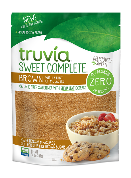Bag of Truvia Sweet Complete Brown with a hint of Molasses Sweetener
