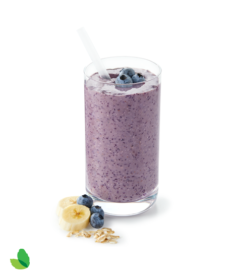 Detail blueberry oat smoothie