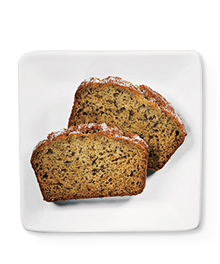 Two slices of reduced sugar banana bread