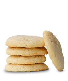 stack of shortbread cookies